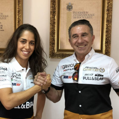 Maria Herrera pilot of Ángel Nieto Team