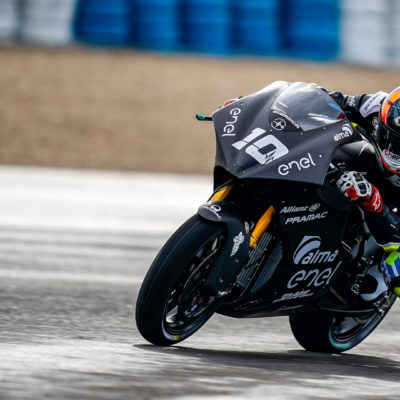 The first day of testing with the MotoE in Jerez