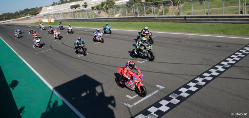 The second day of the tests MotoE in Valencia