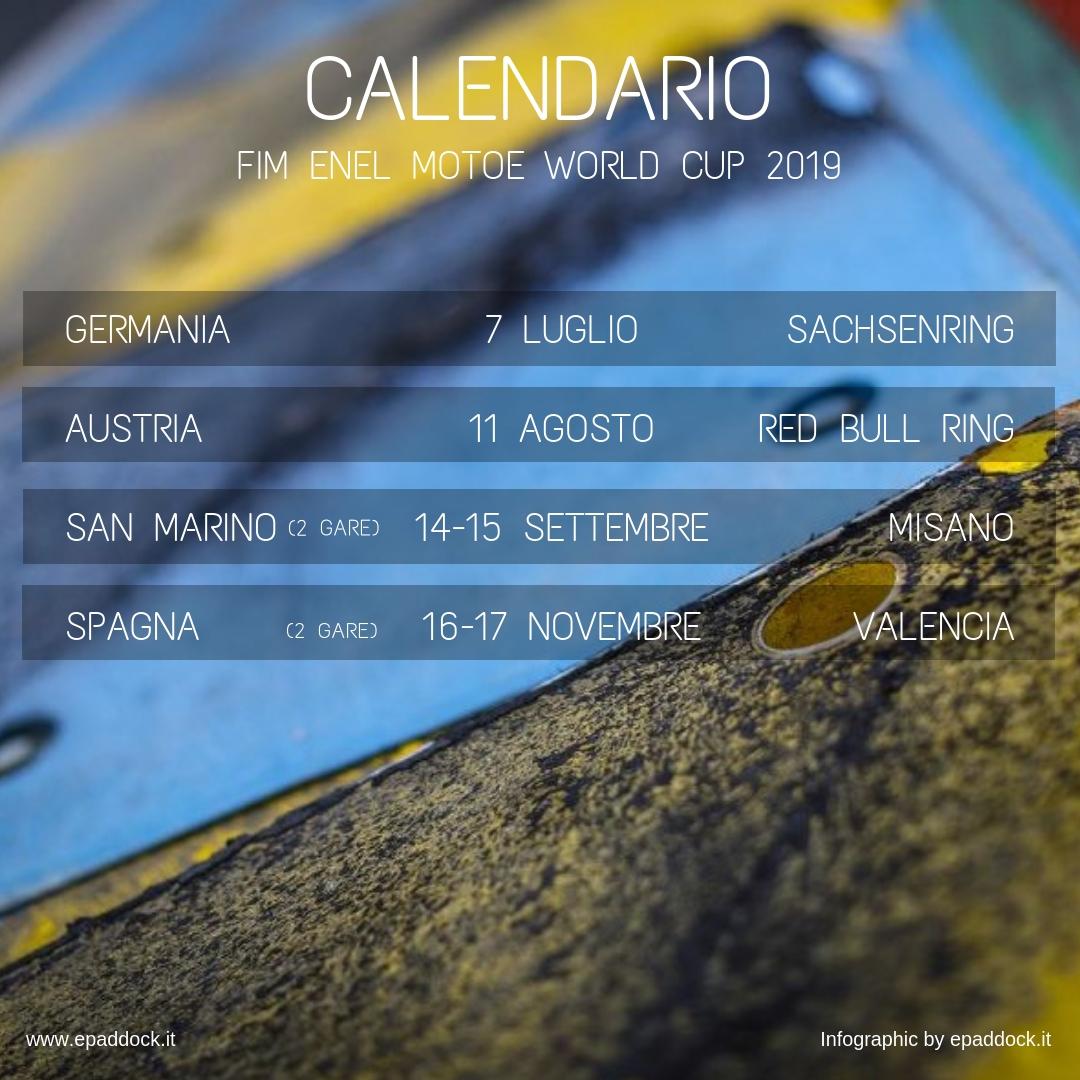 Calendario It.Motoe World Cup The 2019 Calendar Epaddock It