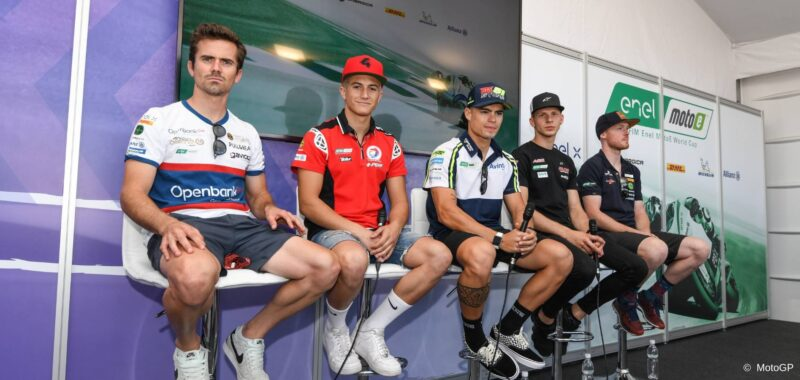 The first press conference of the era MotoE