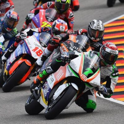 The LCR E-Team riders complete the first race of the MotoE
