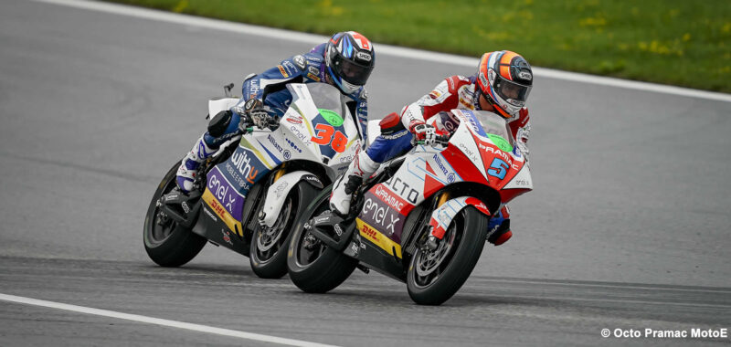 Great recovery for Octo Pramac team: De Angelis finishes 4 ° and Hook 7 °