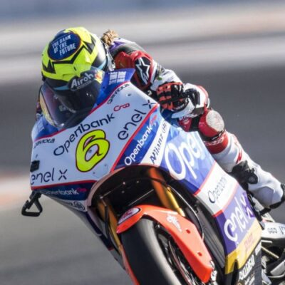 The Openbank team Ángel Nieto MotoE  at the home race