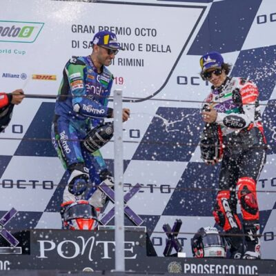 The words of the riders on the podium of the MotoE at Misano