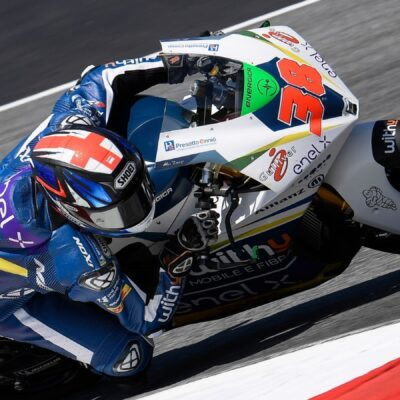 Bradley Smith at Misano for the victory