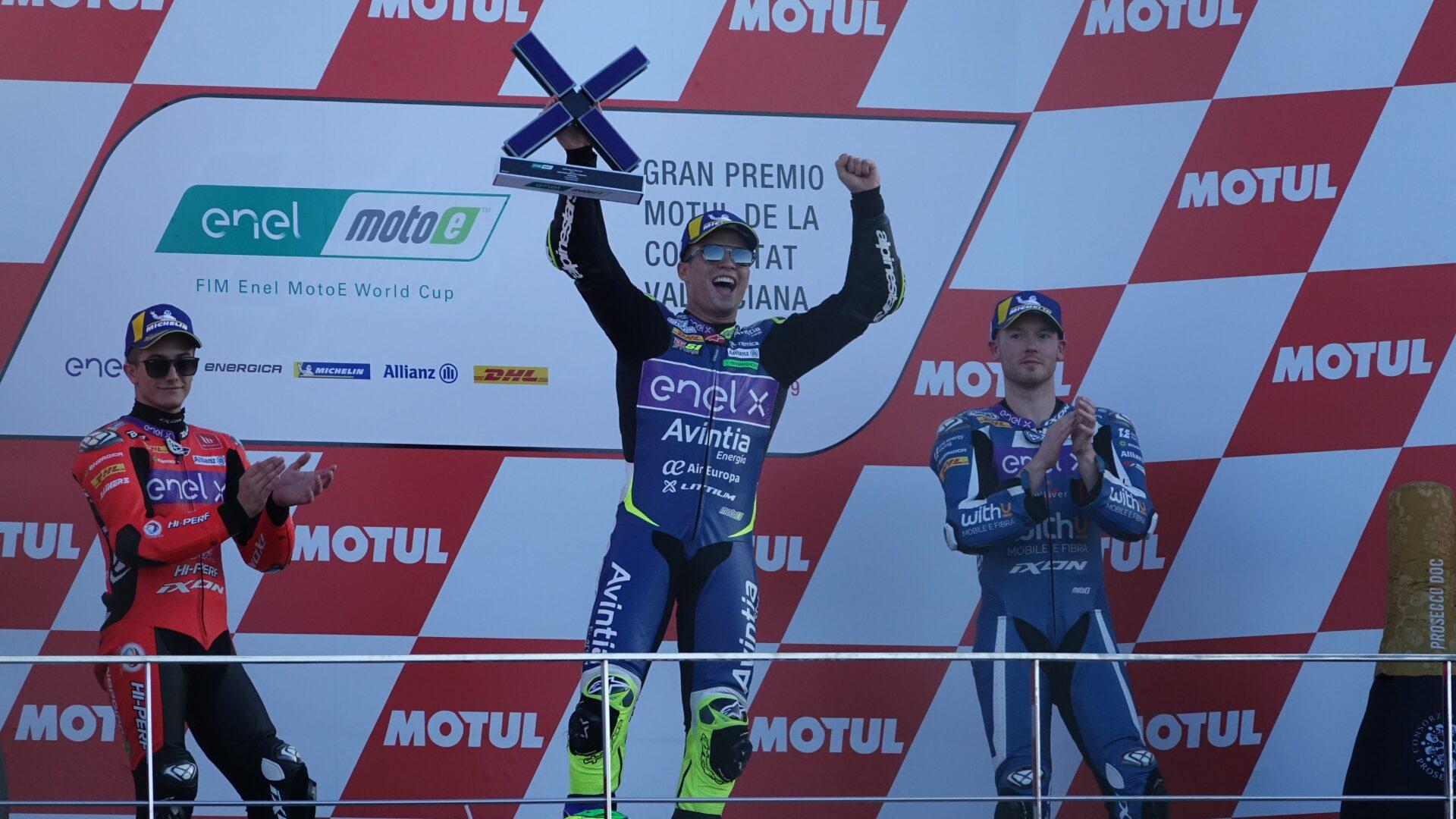 Eric Granado vince la gara uno della MotoE a Valencia