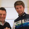 Alessandro Zaccone in MotoE con Fausto Gresini