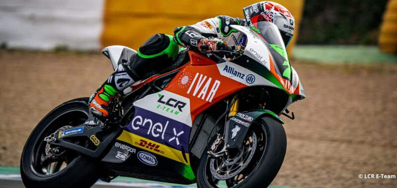 The riders of the LCR E-Team satisfied with the tests in Jerez