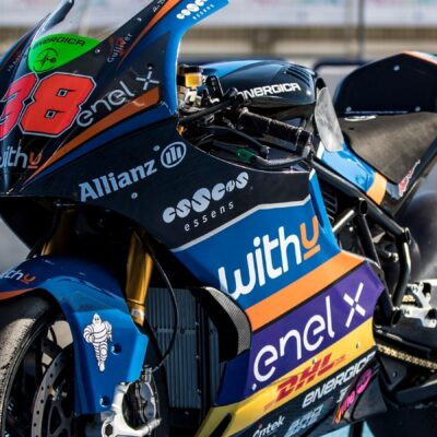Kornfeil with the WithU Motorsport team in the MotoE 2020