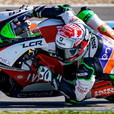 The progress of the LCR E-Team at the MotoE test in Jerez
