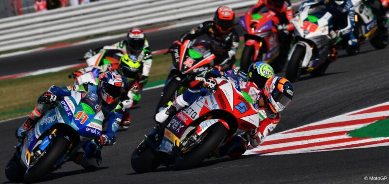 The MotoE as part of the MotoGP Virtual Race 4 in Misano