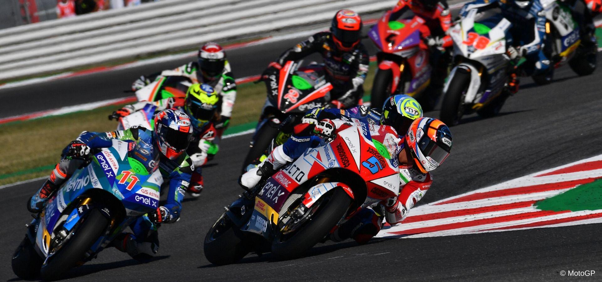 La MotoE insieme alla MotoGP nella Virtual Race 4 a Misano