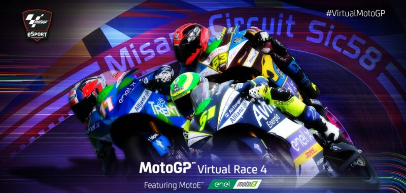 Ferrari wins the Virtual Race of the MotoE  in Misano