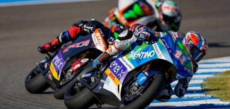 Turn six black hole for the Gresini team in the GP of Andalusia