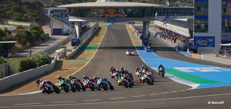 The schedule of the MotoE for the Andalucia GP