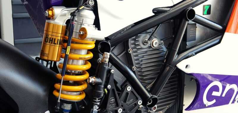 The suspensions of the MotoE World Cup