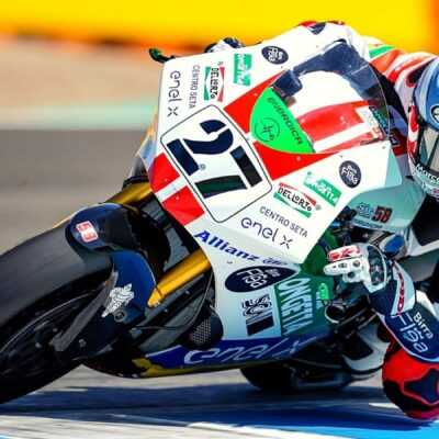 FP1 of the AndaluciaGP : Aegerter, Casadei and De Angelis on top
