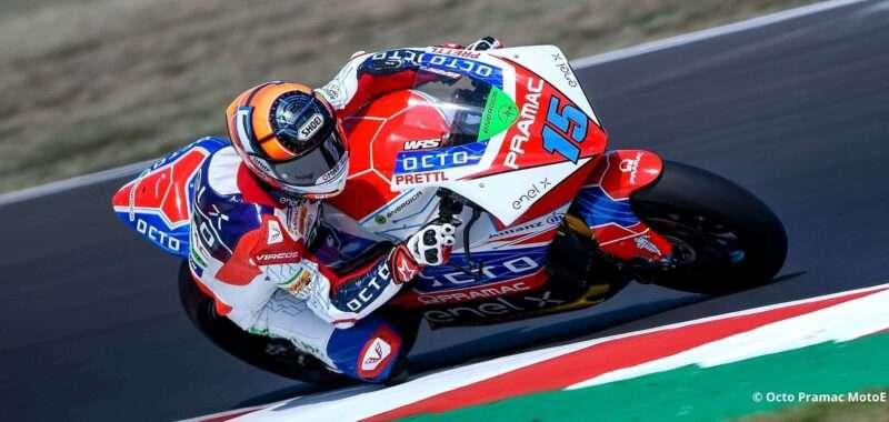 Extraordinary comeback of De Angelis in the home race
