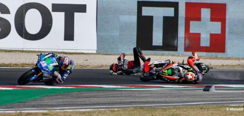 Aegerter: crash during the second lap due to a contact