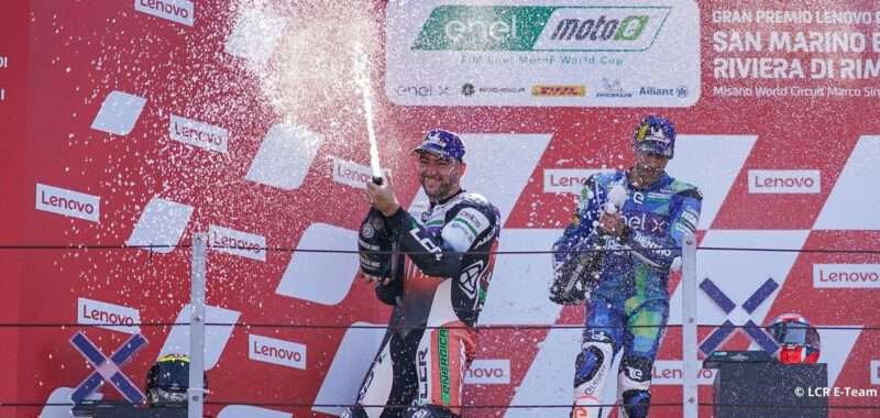 First podium for the LCR E-Team in Misano