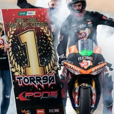 Jordi Torres and Pons Racing 40 champions of the MotoE 2020