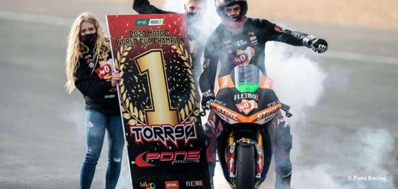Jordi Torres and Pons Racing 40 champions of the MotoE 2020