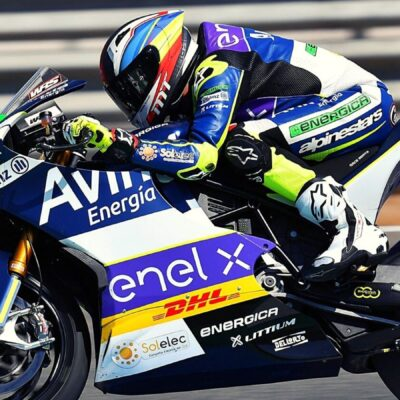 Cardelús and Pires with the Avintia Esponsarama Racing team in 2021