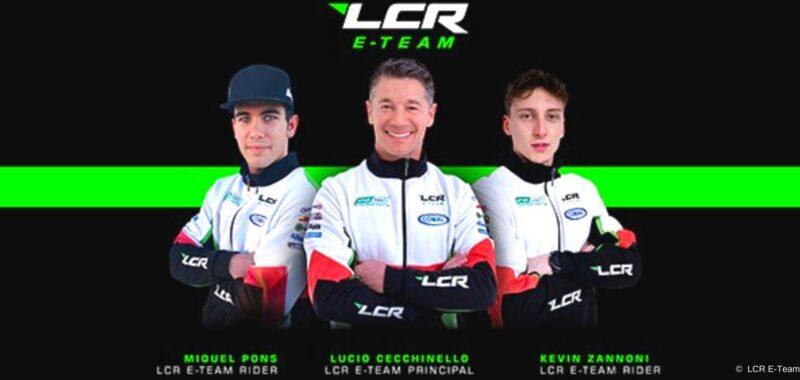 Miquel Pons e Kevin Zannoni con l'LCR E-TEAM nel 2021