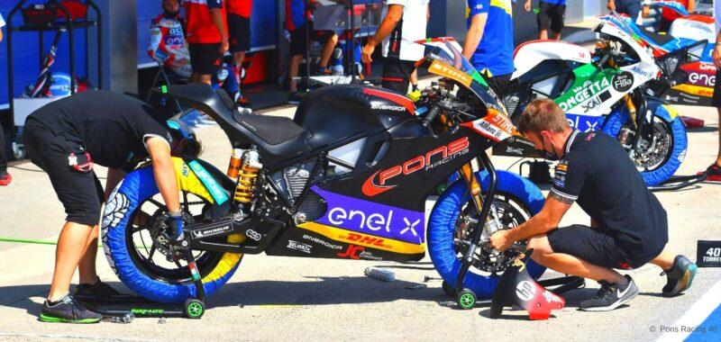 Pons Racing 40 and Jasper Iwema together in the MotoE 2021
