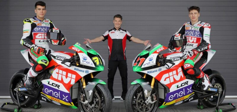 The LCR E-Team with GIVI in the MotoE 2021