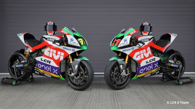 The LCR_E-Team_2021 Motorcycles