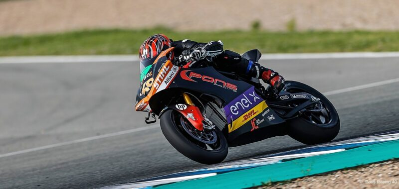 The results of the Pons Racing 40 team in the MotoE test at Jerez