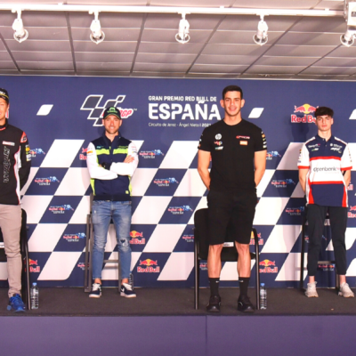 The first press conference of the riders of the MotoE 2021