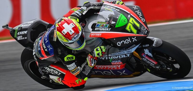 A mistake takes Aegerter out of the fight for the Assen GP