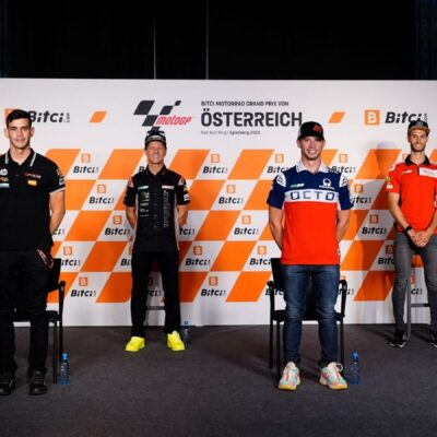 La conferenza stampa dei piloti MotoE in Austria