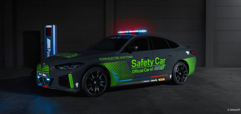 BMW M presents the new BMW i4 M50 Safety Car for MotoE
