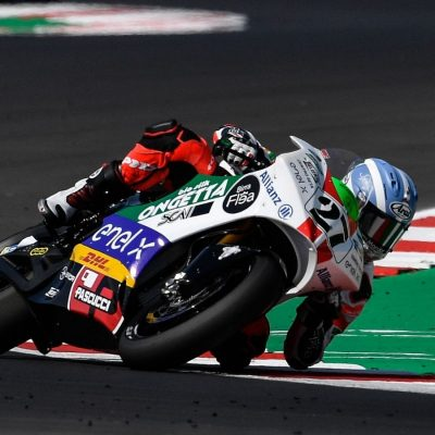 """The performance of the MotoE on the """"Marco Simoncelli"""" circuit in Misano"""