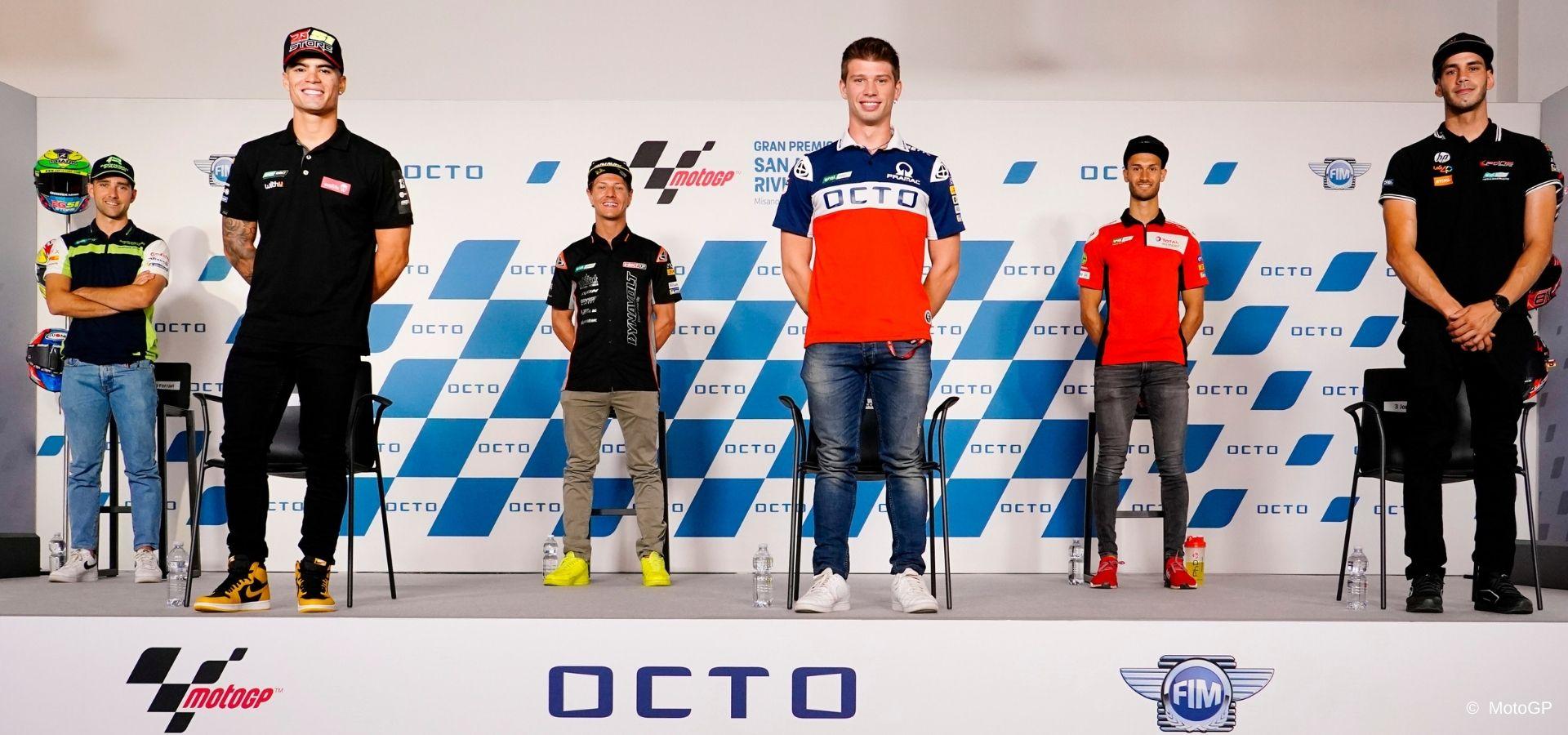 The MotoE riders' press conference in Misano