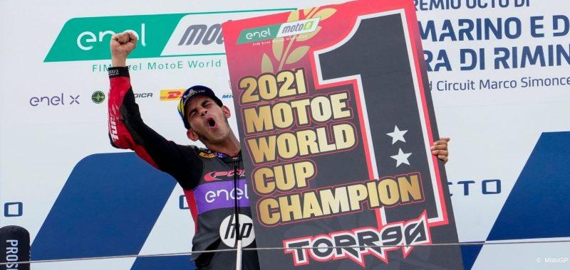 Jordi Torres champion of the MotoE World Cup again