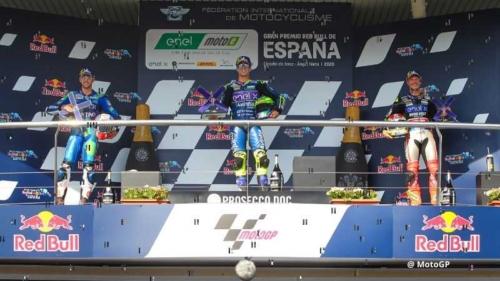 Spain GP podium